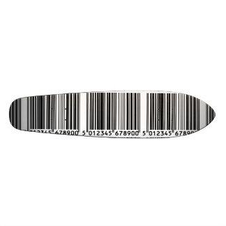 Bar code Image Skateboard Deck