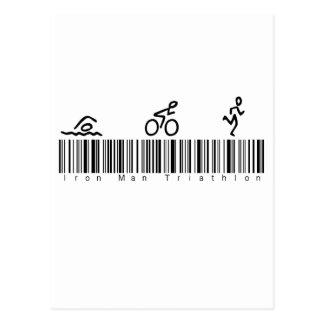 Bar Code Iron Man Tri Postcard