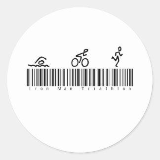 Bar Code Iron Man Tri Stickers