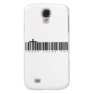 Bar Code Jesus Loves You Samsung Galaxy S4 Cover