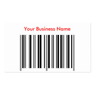 'Bar Code' Profile Card Business Cards