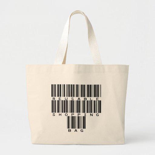 Bar Code Reusable Shopping Bag Tote Bag