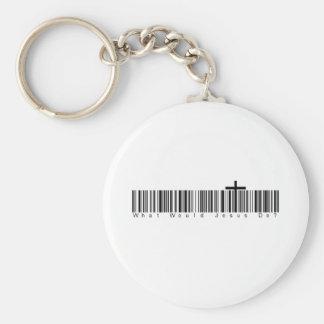 Bar Code WWJD Key Ring