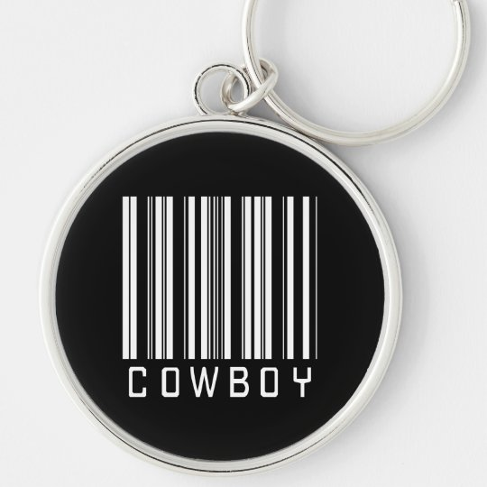 BAR COWBOY DARK Silver-Colored ROUND KEY RING