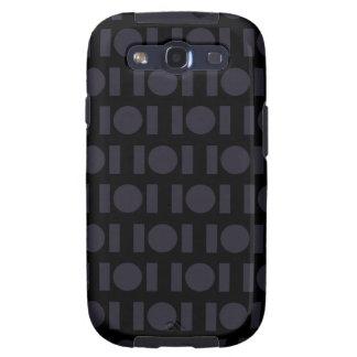 Bar Dot Pattern black Samsung Galaxy S3 Case