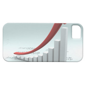 Bar graph and arrow with formula barely there iPhone 5 case