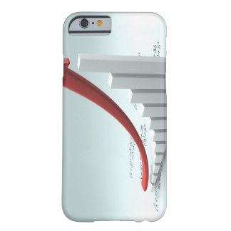 Bar graph and arrow with formula barely there iPhone 6 case