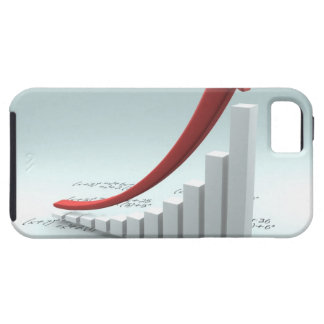 Bar graph and arrow with formula iPhone 5 cover