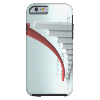 Bar graph and arrow with formula tough iPhone 6 case