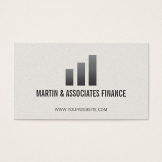 Bar Graph | Gradient Business Card