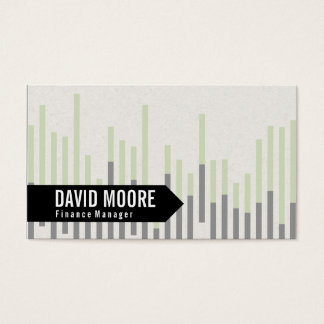Bar Graph (green) | Arrow Business Card