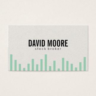 Bar Graph (green) Business Card