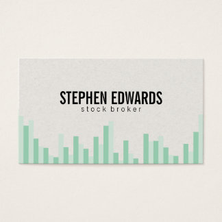 Bar Graph (greens) Business Card