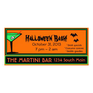 Bar Halloween Party-Advertisement Full Colour Rack Card