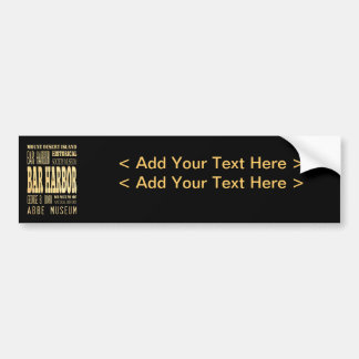 Bar Harbor City of Maine Typography Art Bumper Sticker