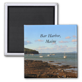 Bar Harbor Square Magnet