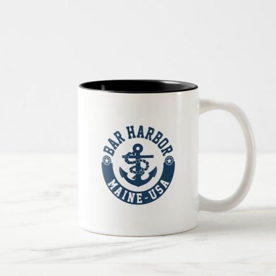 Bar Harbour Maine USA Two-Tone Coffee Mug