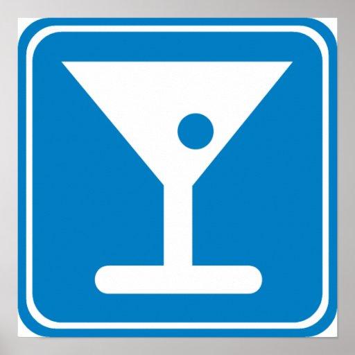 Bar Highway Sign Poster