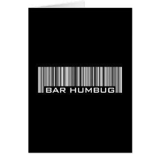 Bar Humbug - Alternative Christmas Gift Card