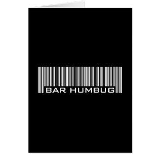 Bar Humbug - Alternative Christmas Gift Greeting Card
