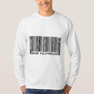 Bar Humbug (Bah Humbug) Anti-Christmas Bar Code T-Shirt