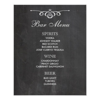 BAR MENU  big sign | chalkboard | wedding bar Poster