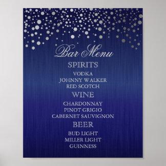 Bar Menu for A Wedding Poster