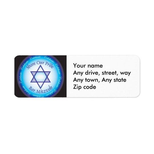 Bar Mitzvah Address return label