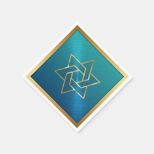 Bar Mitzvah/Bat Mitzvah Star of David Blue Gold