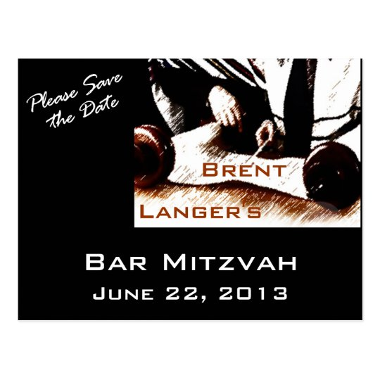 Bar Mitzvah  Boy Postcard