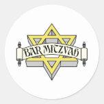 Bar Mitzvah Classic Round Sticker