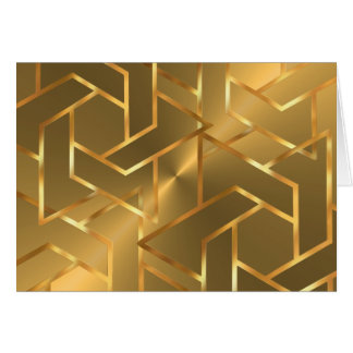 Bar Mitzvah Gold Star of David on Any Color Note Card