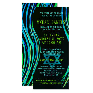 Bar Mitzvah Green Prayer Shawl Card