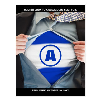 Bar Mitzvah Hero Save the Date Postcard