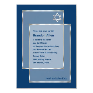 Bar Mitzvah Invitation 5x7 Any Color You Like