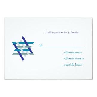 Bar Mitzvah Invitation | Response Card