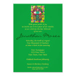Bar Mitzvah Invite - Garden Oasis Hamsa