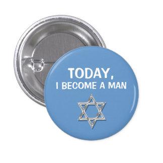 Bar mitzvah man celebrations 3 cm round badge
