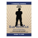 Bar Mitzvah Movie Star Invitation in Navy Tan