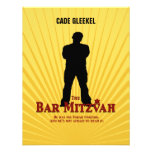 Bar Mitzvah Movie Star Reply Card/Cade Personalised Invite