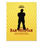 Bar Mitzvah Movie Star Reply Card Custom Announcement