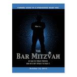 Bar Mitzvah Movie Star Save the Date, Blue, Black