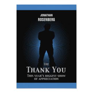 Bar Mitzvah Movie Star Thank You Card Blue Black 13 Cm X 18 Cm Invitation Card