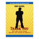 Bar Mitzvah Movie Star Thank You Card/Cade Personalised Invitations