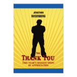 Bar Mitzvah Movie Star Thank You Card Personalised Invitation