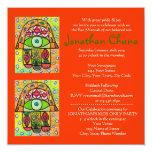 Bar Mitzvah - Pear Orchard Hamsa Personalised Invites