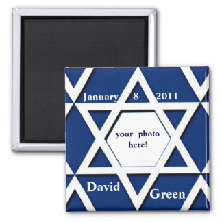 Bar Mitzvah Photo Save the Date Square Magnet