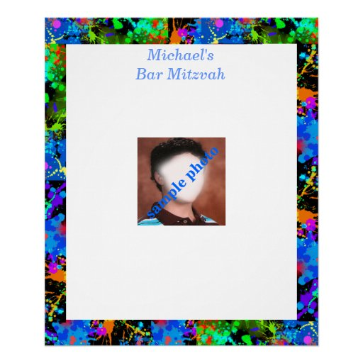 Bar Mitzvah Photo Sign in Board Posters