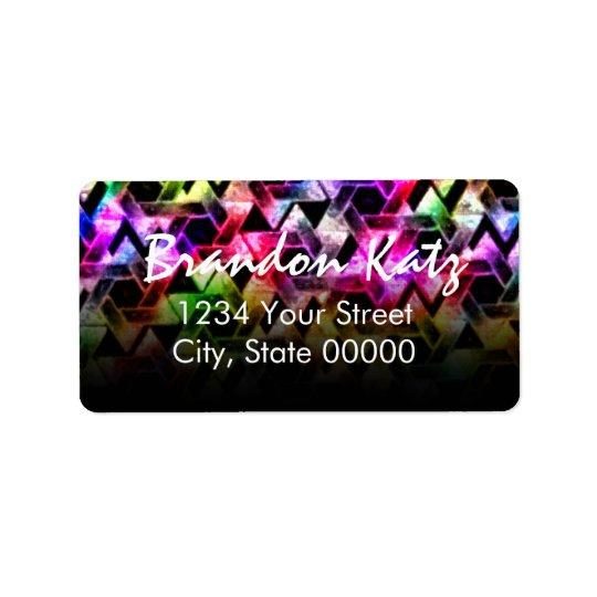 Bar Mitzvah Star of David Damask Black Fade Address Label