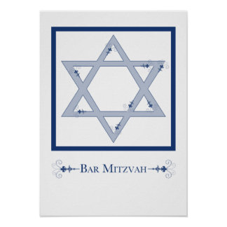 bar mitzvah (star of david elegance) poster